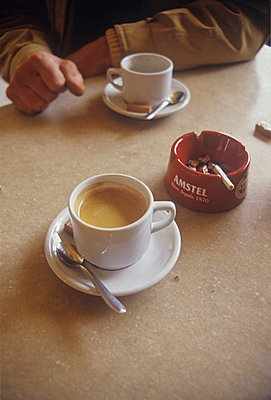 Coffee Cup and Ashtray - p1072m829338 by Neville Mountford-Hoare