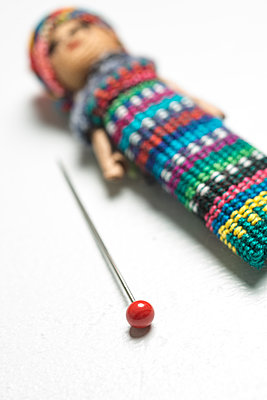Mexican or Guatemalan worry doll with a single pin. - p1433m1586210 by Wolf Kettler