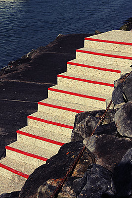 Stairs on the waterfront of Jard-sur-Mer - p1189m1222234 by Adnan Arnaout