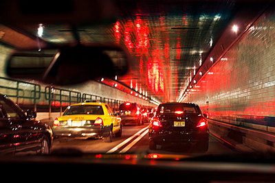 Cars in tunnel - p312m799387f by Lena Granefelt