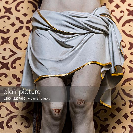 Stigmas on Jesus sculpture - p280m2237863 by victor s. brigola