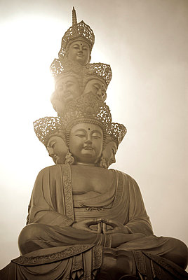 Golden Buddha at the summit of Mount Emei Shan. Sichuan. China - p3437895 by Guillem Lopez