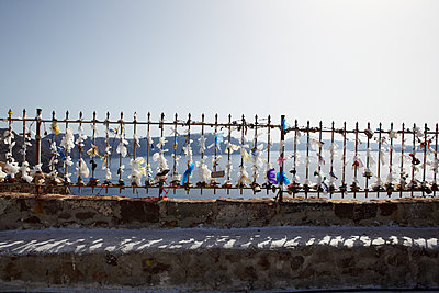 Fence with padlocks - p415m1191199 by Tanja Luther