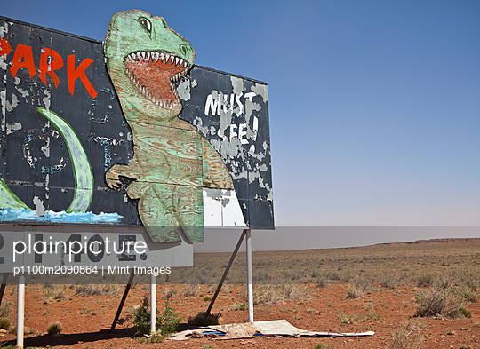 Dinosaur Attraction Billboard - p1100m2090864 by Mint Images