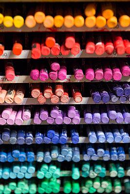 Crayons, wax crayons, colour - p1216m2260941 by Céleste Manet