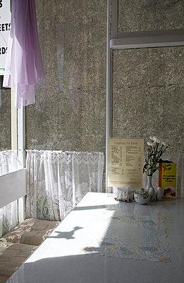 Interior of tea room - p3881795 by Ulrike Leyens