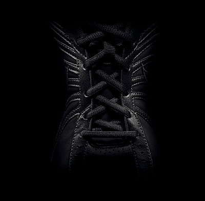 Close up of laced sneaker - p42917163f by Chris Bailey
