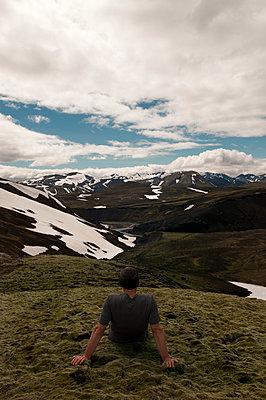 View of the mountains of Landmannalaugar - p470m2053060 by Ingrid Michel