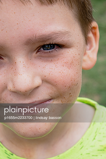 Blue-eyed Boy with Freckles - p1655m2233700 by lindsay basson