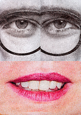 Collage, Eyes and mouth - p265m2082705 by Oote Boe