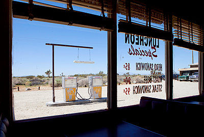Petrol station in the desert - p8560117 by Pierre Baelen
