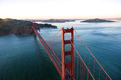 Golden Gate Bridge over San Francisco Bay - p1166m1164441 by Cavan Images