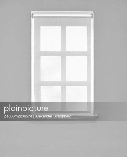 Window with roller blind - p1696m2296574 by Alexander Schönberg