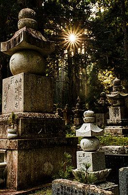 Japanischer Friedhof in Koyasan - p1180m965877 von chillagano