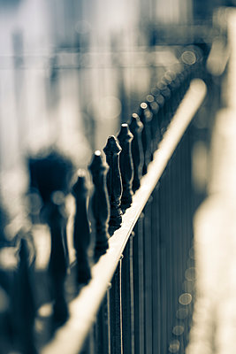 Black ornamental railings running diagonally. - p1433m1589992 by Wolf Kettler