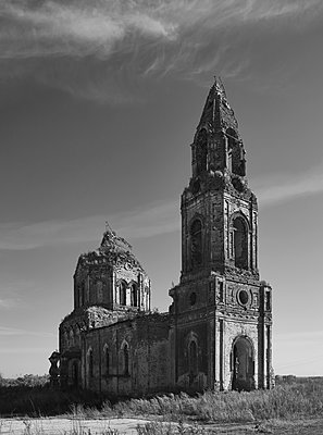Ruin of Russian Orthodox church in Russia - p390m1159292 by Frank Herfort