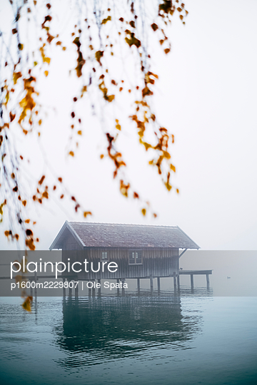 Germany, Bavaria, Ammersee in the fog - p1600m2229807 by Ole Spata