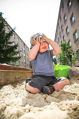Kind im Sandkasten - p1357m1207534 von Amadeus Waldner