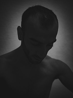 Silhouette of a man - p1267m2229648 by Wolf Meier