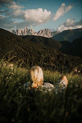 Europe, Italy, South Tirol, near Brixen, view on Seekofel mountainrange in the dolomites. - p300m2282370 von Malte Jäger
