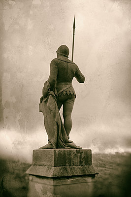 Guardian statue Hohenzollern Castle - p470m1190649 by Ingrid Michel