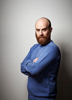 Man with beard - p921m882311 by Boris Leist