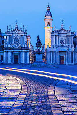Santa Cristina and San Carlo churches at Piazza San Carlo in Turin, Italy - p1427m2077528 by Henryk Sadura