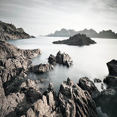 Rocky coastline - p1137m1497585 by Yann Grancher