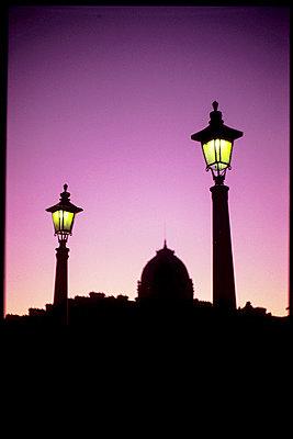 Paris, sunset - p1654m2253733 by Alexis Bastin