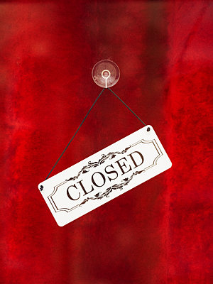 Shop closed sign - p1280m2151512 by Dave Wall