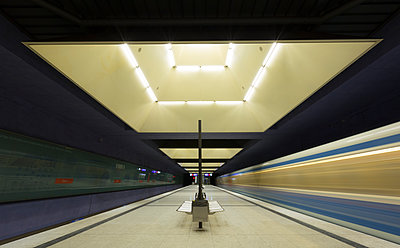 Germany, Munich, indoor view of underground station Gern - p300m1116657 by Christina Falkenberg