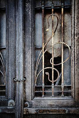 Broken Window Grille - p1072m1056636 by miguel sobreira