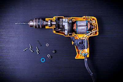 Disassembled drilling machine - p1149m2197060 by Yvonne Röder