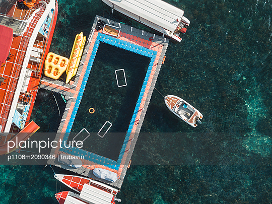Swimming Pool and boats - p1108m2090346 by trubavin
