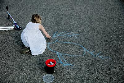 Sidewalk chalk - p1212m1145992 by harry + lidy