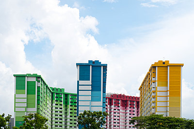 Colored blocks of flats - p795m1461514 by Janklein