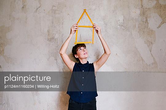 Hausbau - p1124m1160234 von Willing-Holtz