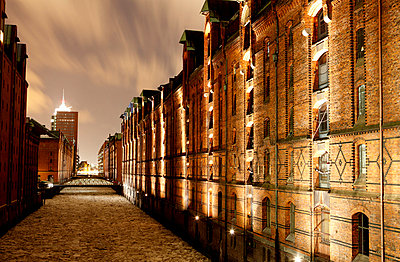 Storehouses in Hamburg; Germany - p1790686 by Roland Schneider