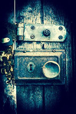 Old Lock on Wooden Door - p975m778327 by Hayden Verry