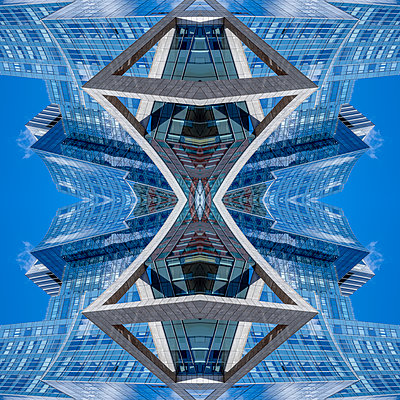 Abstract Architecture Kaleidoscope Boston - p401m2221893 by Frank Baquet