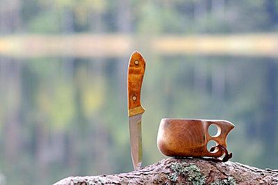 Knife and drinking-vessel, Sweden. - p5755438f by Stefan Ortenblad