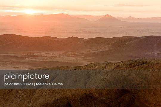 Namibian landscape - p1273m2259820 by Melanka Helms