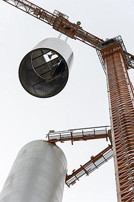 Aufbau eines Windrades - p1079m880919 von Ulrich Mertens