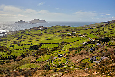 Farm lands along the Ring of Kerry, Co. kerry, Ireland, Europe, 2018 - p1362m2028908 by Charles Knox