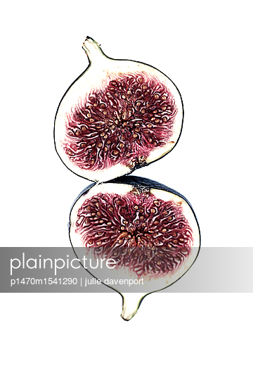 fig sliced in two - p1470m1541290 by julie davenport