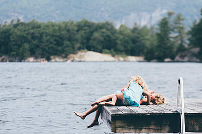 Summer on the Lake - p1086m1056037 by Carrie Marie Burr