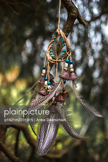 Dreamcatcher with feathers - p1621m2231915 by Anke Doerschlen