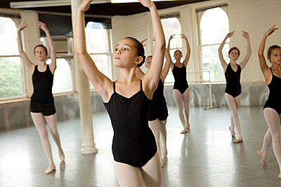 Ballerinas dancing - p9245499f by Image Source