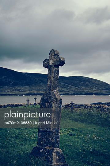 Friedhof auf der Insel Barra, Schottland - p470m2108830 von Ingrid Michel