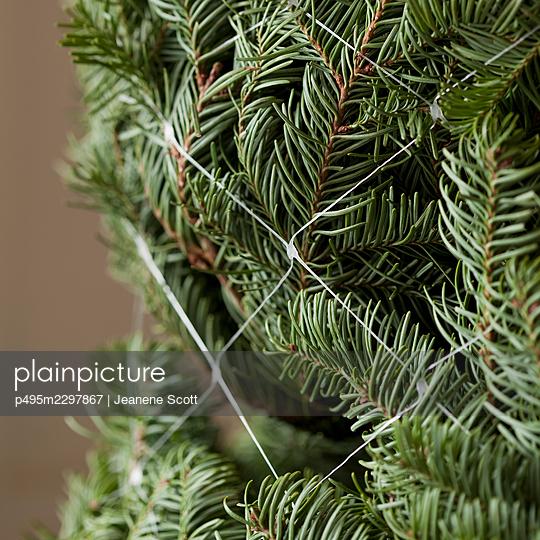 Tied up Christmas tree - p495m2297867 by Jeanene Scott